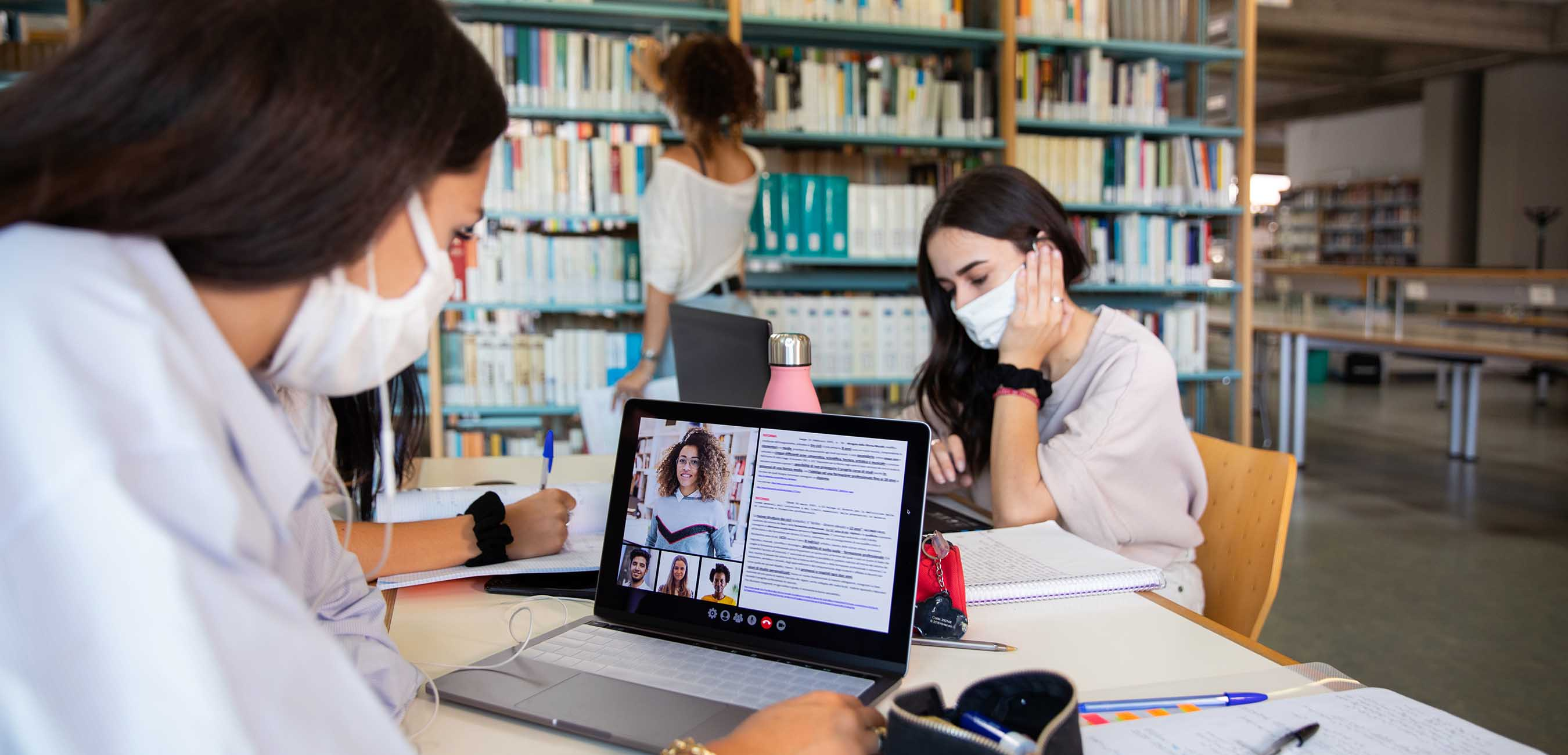 iStock-1271770902 women studying in library